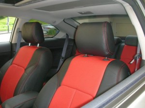 Scion tC red and black leather seat covers