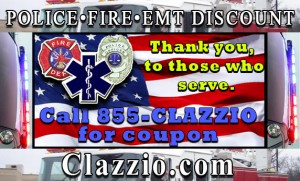 Clazzio seat cover discount for Police Fire EMT