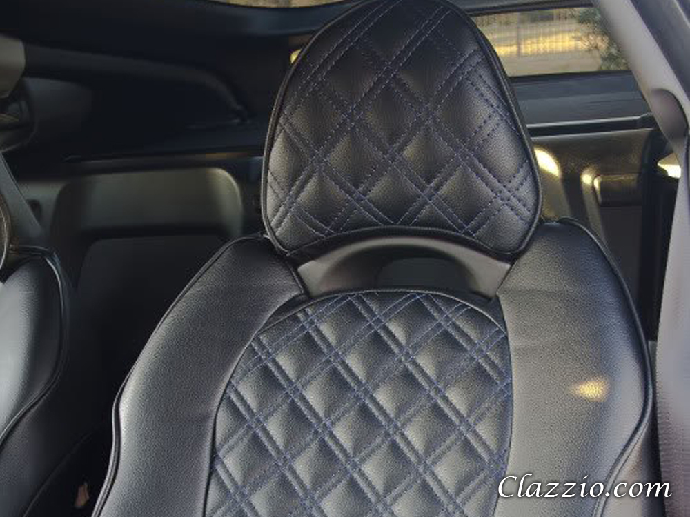 Quilted-Type Clazzio Leather Seat Covers : quilted car seats - Adamdwight.com