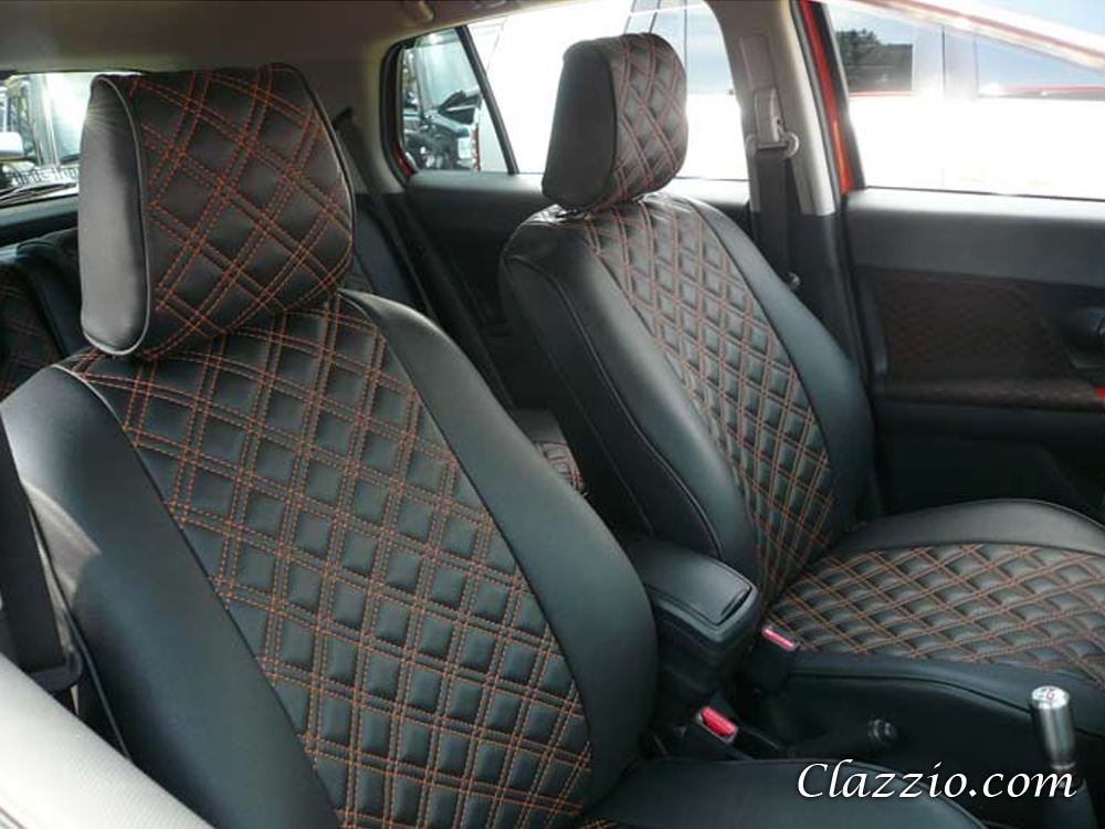 quilted type clazzio leather seat covers. Black Bedroom Furniture Sets. Home Design Ideas