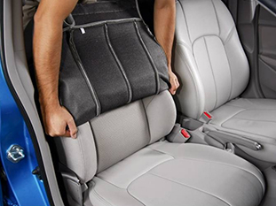 Clazzio 758211blk Black Leather Front Row Seat Cover for Chevrolet Impala